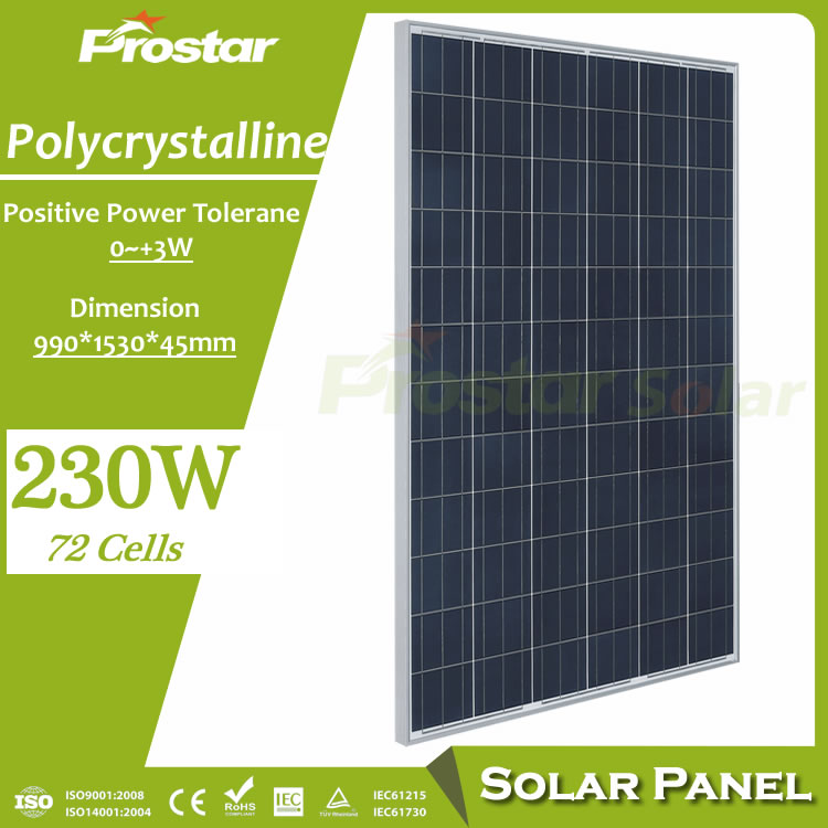 Prostar solar energy facts 230w solar panel price for solar power plant