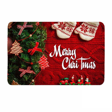 R114 40x60CM Christmas Decoration Carpet Merry Christmas Welcome Doormats Indoor Home Carpets