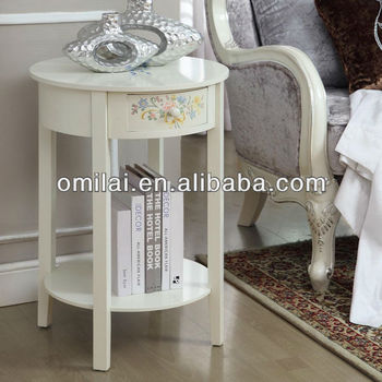 Wooden decorative table with storage board