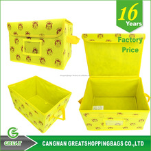 Small Multipurpose Zipper Clothing Fabric Home Foldable Storage Box