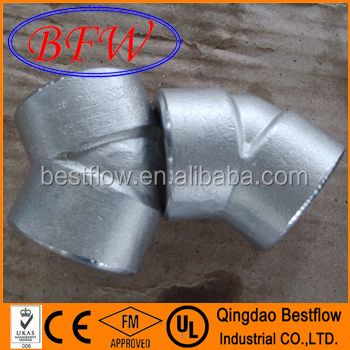 Npt Stainless Steel 316 Threaded & Socket Weld Forged Steel Pipe Fitting 45 degree elbow