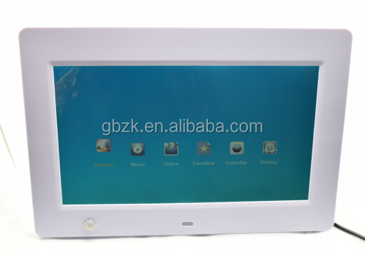 new design digital photo frame with abs plastic 10 battery operated digital photo frame player video hot photo led lcd player