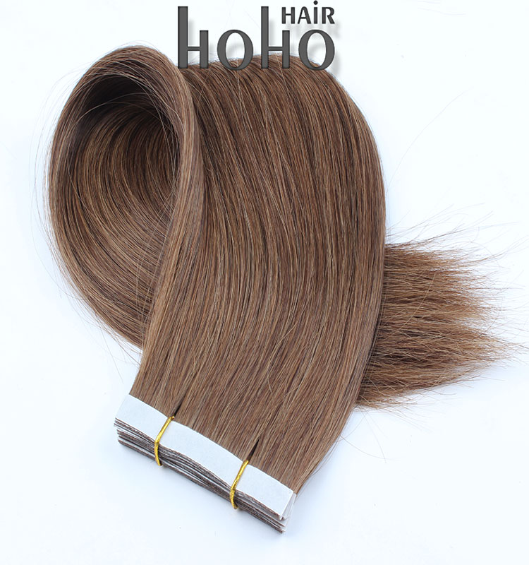 alibaba express brown double drawn hair extension tape