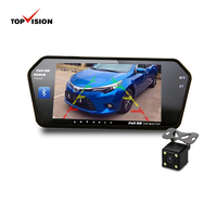 super 7 inch tft lcd car bluetooth video lcd rear view rearview mirror monitor with 7 tft lcd