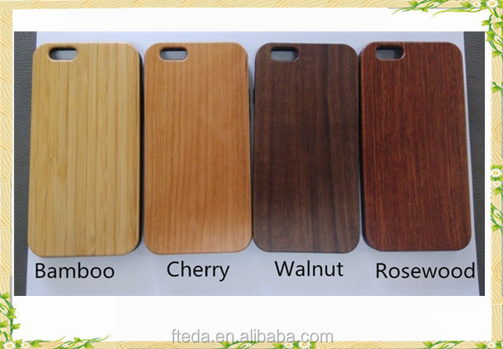 Free Sample Blank Wood TPU Back Cover Mobile Phone Case For Iphone 6s