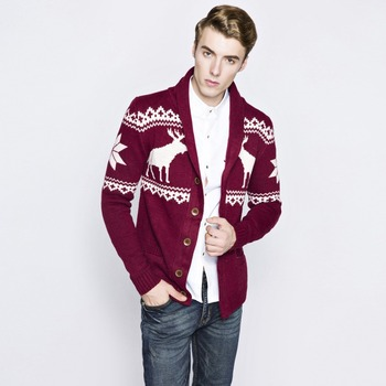 MS70963G Latest men fashion Christmas knitted cardigan