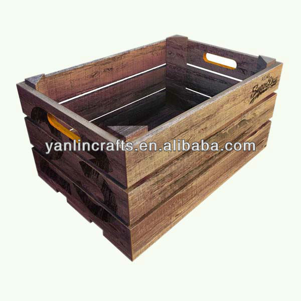 Cheap wholesale wooden fruit crates manufacturers for sale