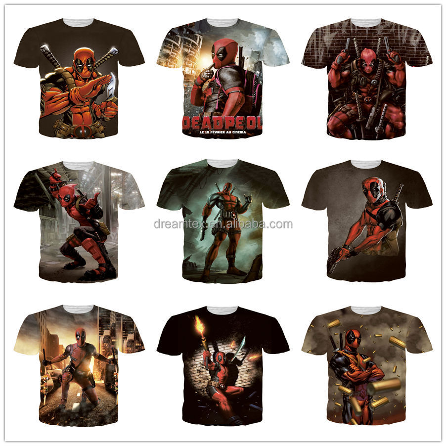 2017 in stock full print sublimation t shirt 3d printed tshirts