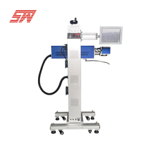 Flying high quality abs wood desktop mini co2 laser marking machine