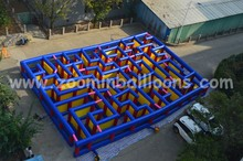 Giant inflatable tunnel maze/inflatable obstacle course Z4001