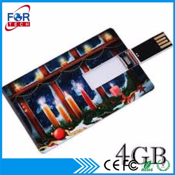 Happy New Years Wholesale Promotional Gift Credit Card Usb Flashdrive USB Card 3gb/4gb/6gb/8gb for Promotion Event