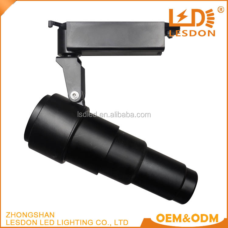 high power Focus 20W LED Commercial Lighting COB Track Light with Long Arm Lights CE UL