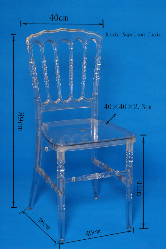 Transparent Clear Crystal Ice Lucite Resin Napoleon Chair