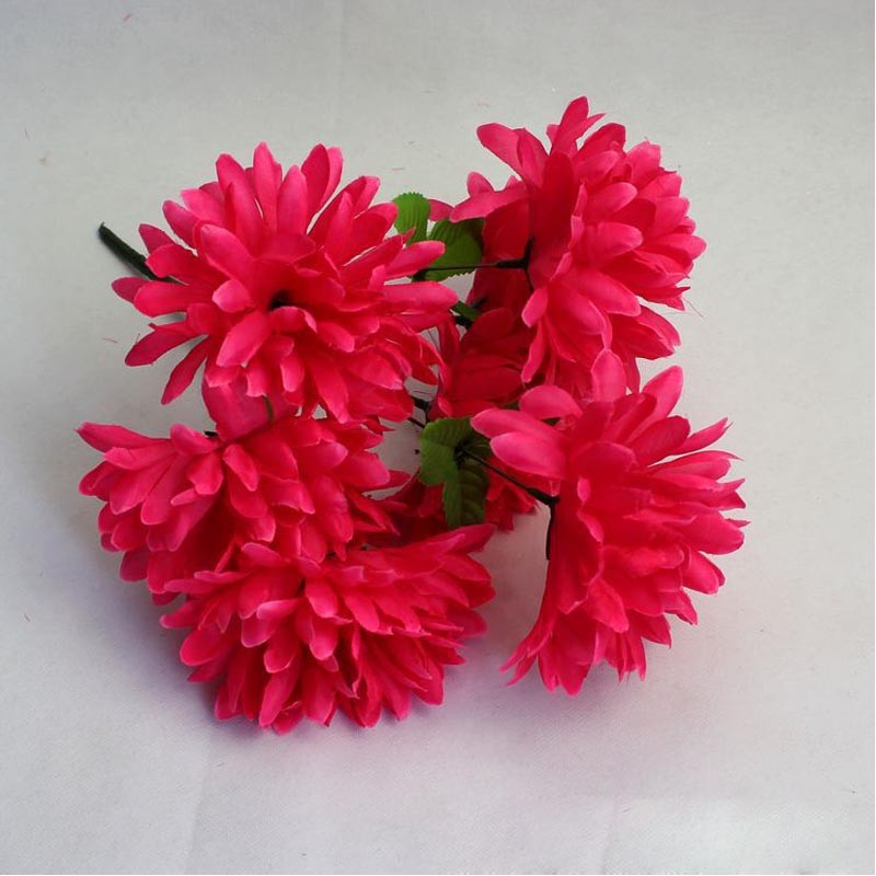 wholesale cheap 7 head cemetery flower holders individual silk flowers cheap marigold flower