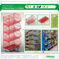 Stacking Portable Storage Wire Cage Foldable Steel Crate