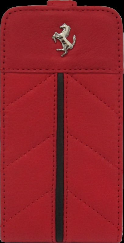Ferrari California Collection Leather Case for iPhone 4/4S Flip Type - Red