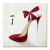 Wholesale Red High Heels Canvas Prints Artistic Decoration Fashionable Interior Decor Man in Black Canvas Printing