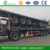 Best Price 3 Axle 40ft Flatbed