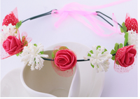 Europe children flowers retro hair band headband female Bridal wedding accessories