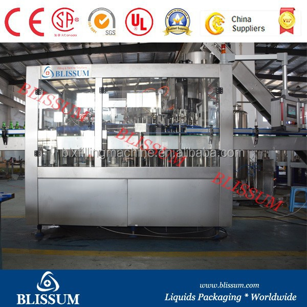 Automatic glass bottle Carbonated beverage filling machine/Equipment/System/Plant for PET Bottles