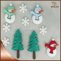 New design christmas snow man style resin button 10pcs/opp bag