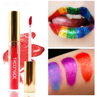 TOP Beauty Fashion Women OEM Private Label Waterproof Shimmer Liquid Lipstick High Glitter Lip Gloss
