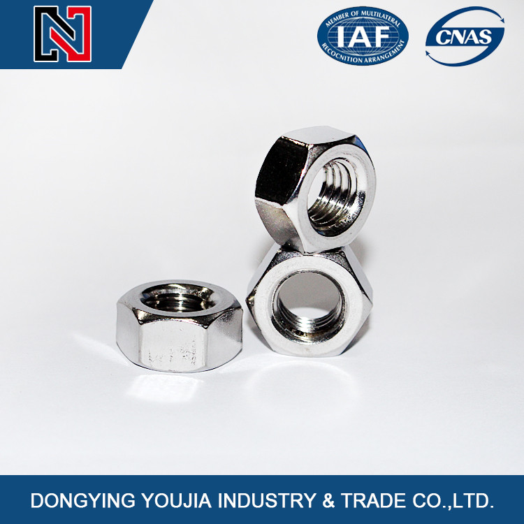 good quality Stainless Steel DIN 934 Hexagon Nuts,hex nuts