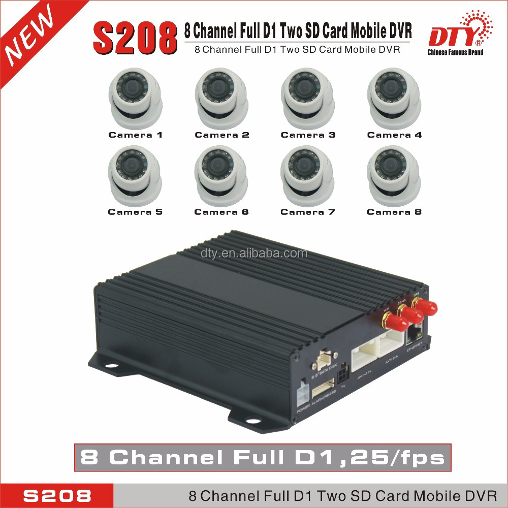 multi channel car dvr,3G GPS Police portable Mobile DVR,3g wifi gprs gps mobile dvr,S208