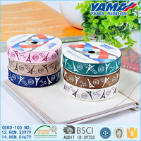 Promotional personality 100% polyester character printed 4 inch grosgrain ribbon