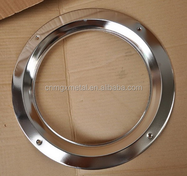 High Quality Customized Chrome Plated Round Steel Vision Lite Window Frame