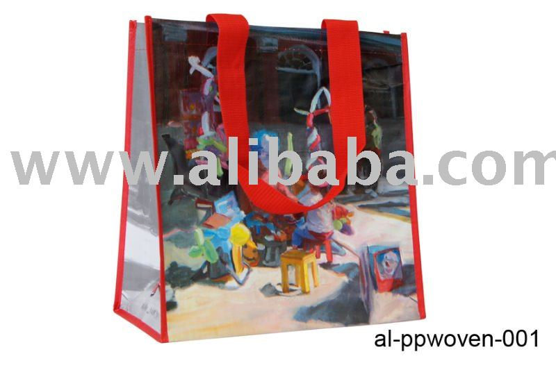 PP woven Laminated Shopping Bag