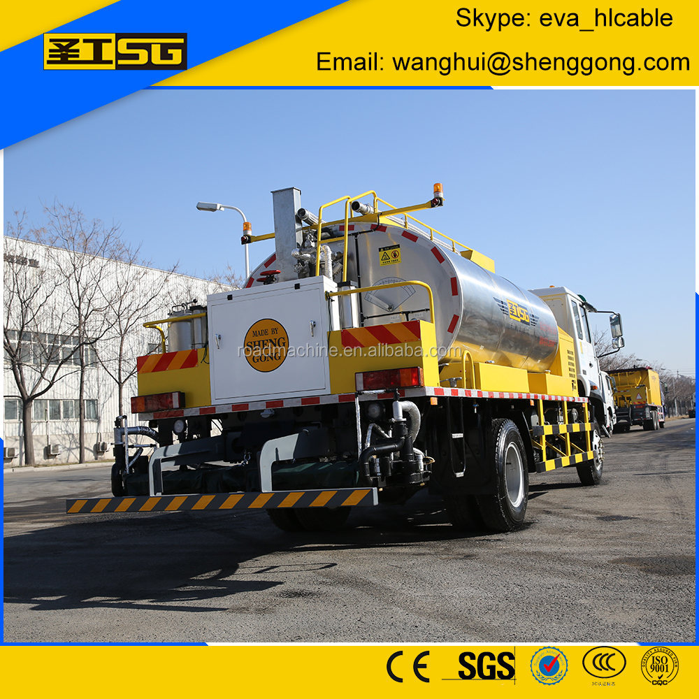 TOP Sale Asphalt emulsion Tank 6000L, Bitumen emulsion sprayer truck