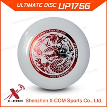 X-COM 175g Professional White Color Logo Printed Custom Ultimate Frisbee
