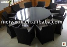 2012 hot sell PE rattan round table