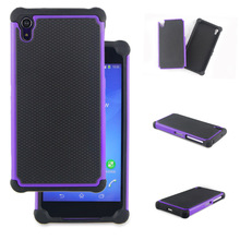 TPU PC 2in1 COMBO HYBRID HARD SOFT ARMOR BACK COVER CASE FOR SONY XPERIA Z2