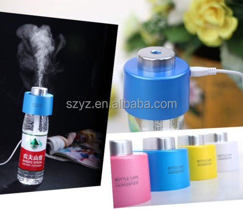 II Generation USB Portable Mini Water Bottle Caps Humidifier + Bottle +LED Light