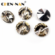 Latest design 14mm sewing crystal button rhinestone for clothing accessories and sofa decoration