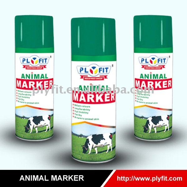 colorful harmless washable animal marking paint spray