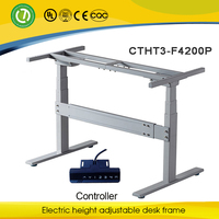 Healthy electric lifting office desk with ergonomic adjustable steel frame hot selling in alibaba