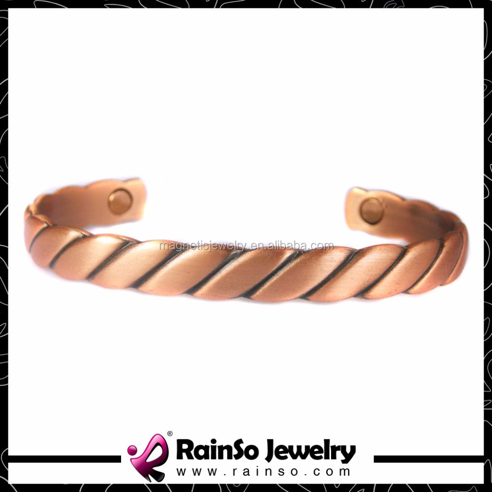 Copper Bangle Magnetic Powerful Bracelet for Women