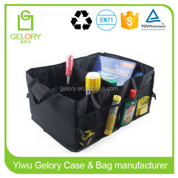 Waterproof Foldable Black Car Boot Organizer Storage Bag Portable Auto Storage Box Multi-use Tools Organizer