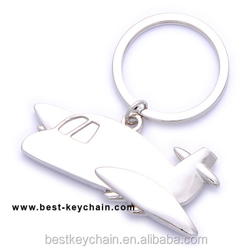 promotional customized air plane metal keychain (BK10544)