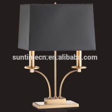 hotel modern gold table lamp with black color lampshade