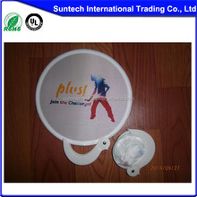 Promotional 190T Polyester Material folding frisbee with pouch foldable nylon frisbee fan