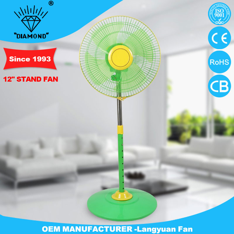 outdoor small stand fan with 3 blades