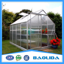 Small Size garden greenhouse with plastic covering and side ventilation system