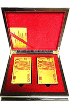 Luxurious gambling equipment 24k gold playing cards