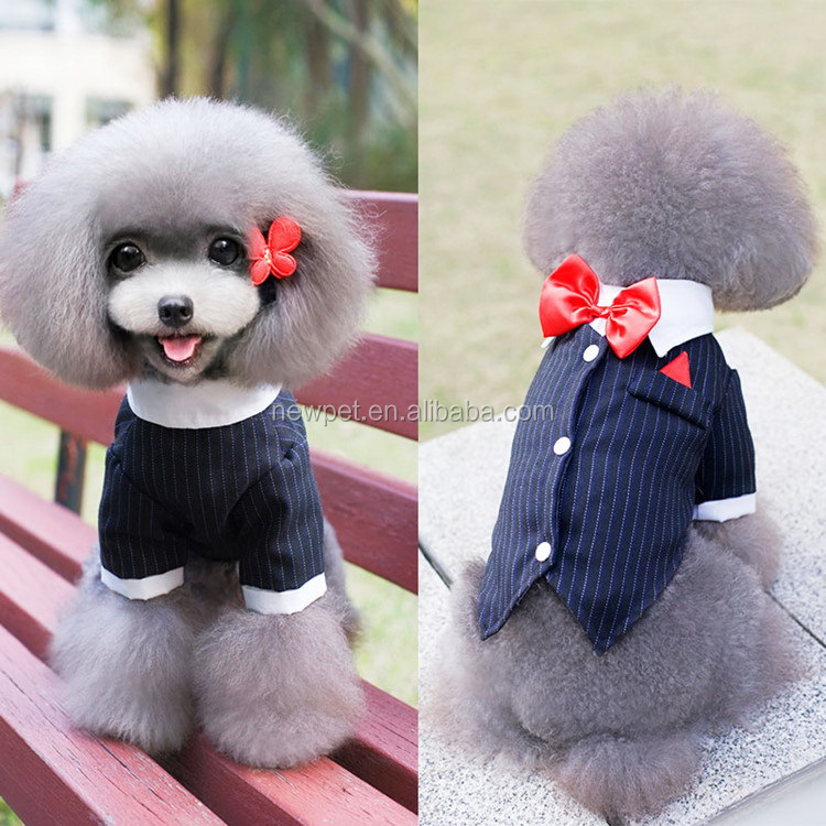 Custom wholesale nice grade pet wedding or evening dress dog summer stripe dress