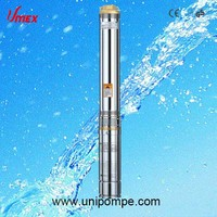 stainless steel deep well submersible pump 3 inch