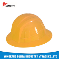 european style high quality hdpe full brim safety helmet factory
